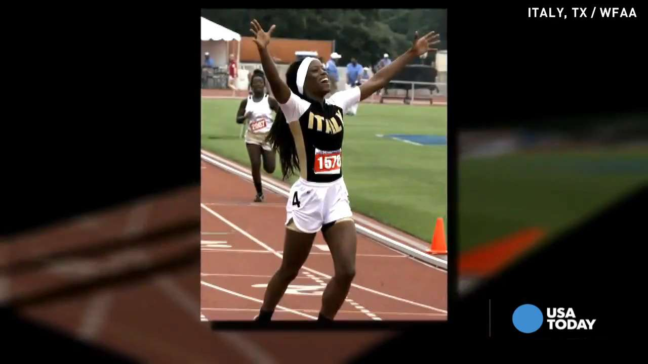 High school without a track produces track star