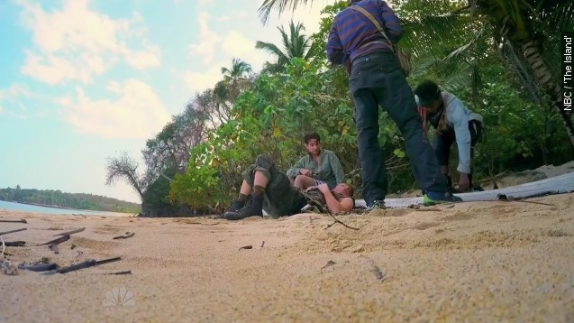 Bad dehydration brings single dad to tears on 'The Island'