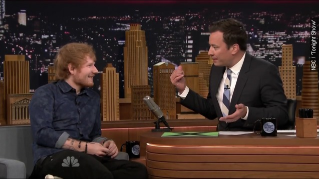 Ed Sheeran ate pizza and did shots with Beyonce
