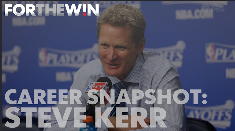 Career Snapshot: Warriors coach Steve Kerr