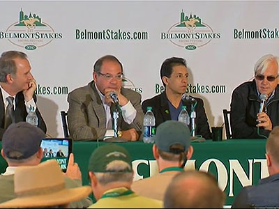 The trainer and owner of Triple Crown winner American Pharoah look to the future of champion horse's career. (June 7)