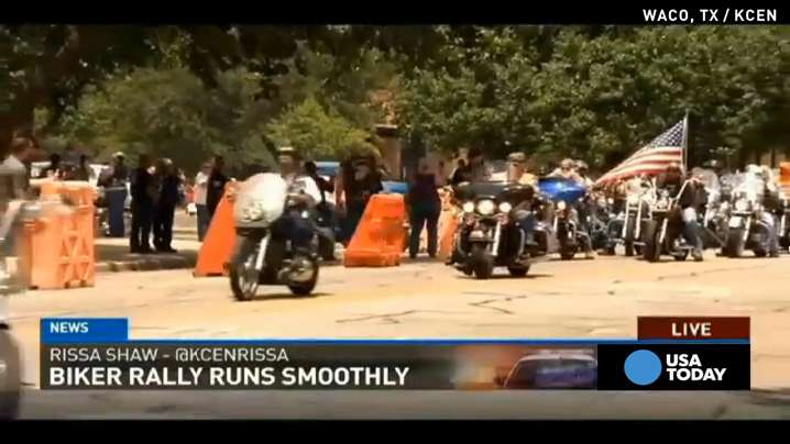 1,000 bikers protest peacefully in Waco