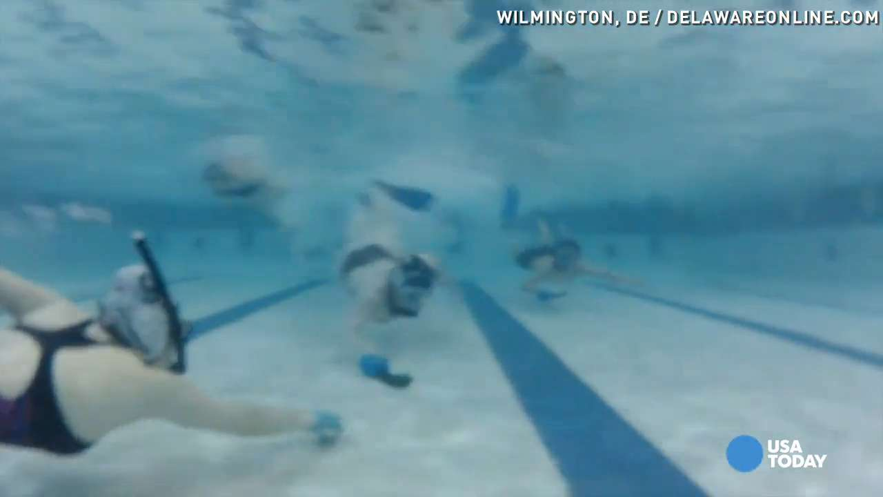 Underwater hockey is an under-the-radar workout