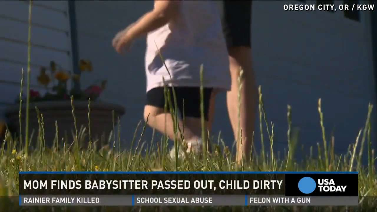 Mom finds babysitter passed out, baby covered in feces