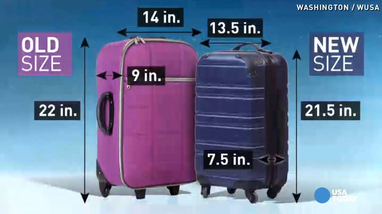Airlines want to shrink size of carry-on bags