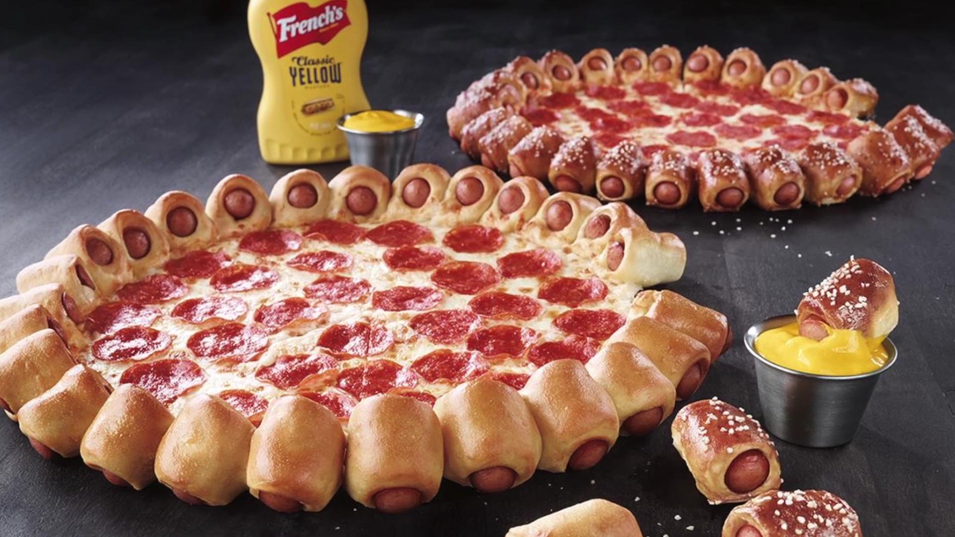 Hot out the oven! Pizza Hut's hot dog pizza is officially happening