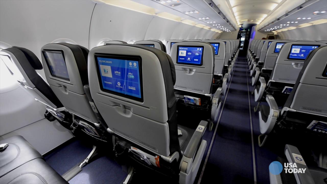 JetBlue CEO Robin Hayes gives USA Today a look at the new Mint experience aboard a new Airbus A321