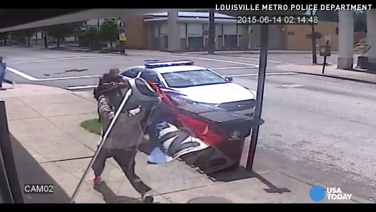 Chief: Shooting of man armed with flagpole justified