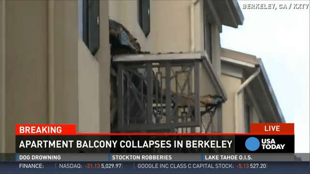 Berkeley balcony collapse kills Irish students
