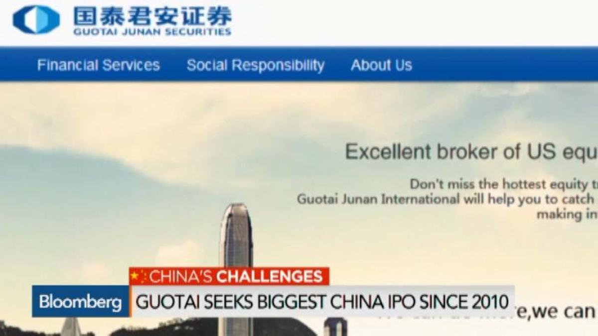 Guotai Seeks $4.8B in Biggest China IPO Since 2010