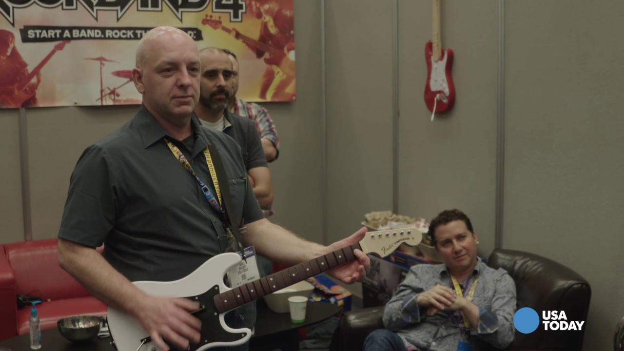 New editions of Guitar Hero and Rock Band are on display at this year's E3 and USA TODAY's Mike Snider, Brett Molina, and Marc Saltzman are there to tell you what they think.