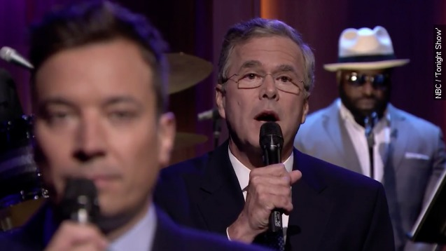 Jeb Bush slow jams the news with Jimmy Fallon