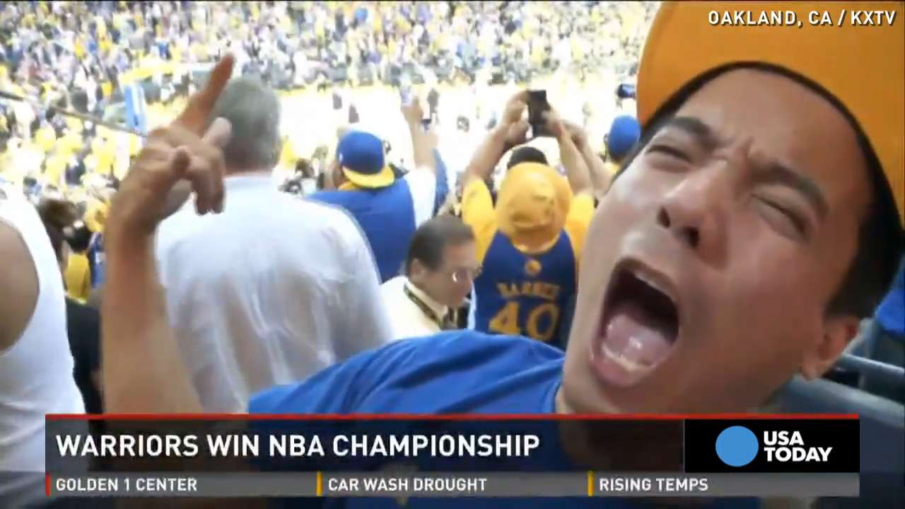 Fans go crazy after Warriors take the NBA title