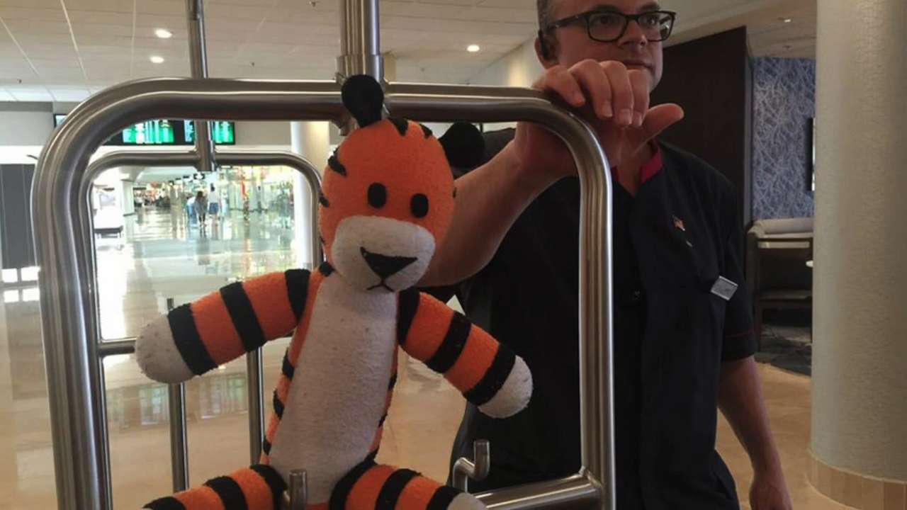 Boy's lost stuffed tiger has AWESOME airport adventure