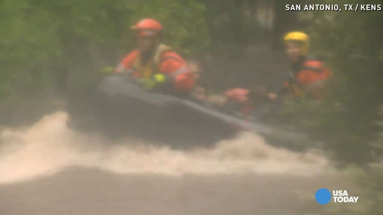 Dramatic high water rescue caught on camera