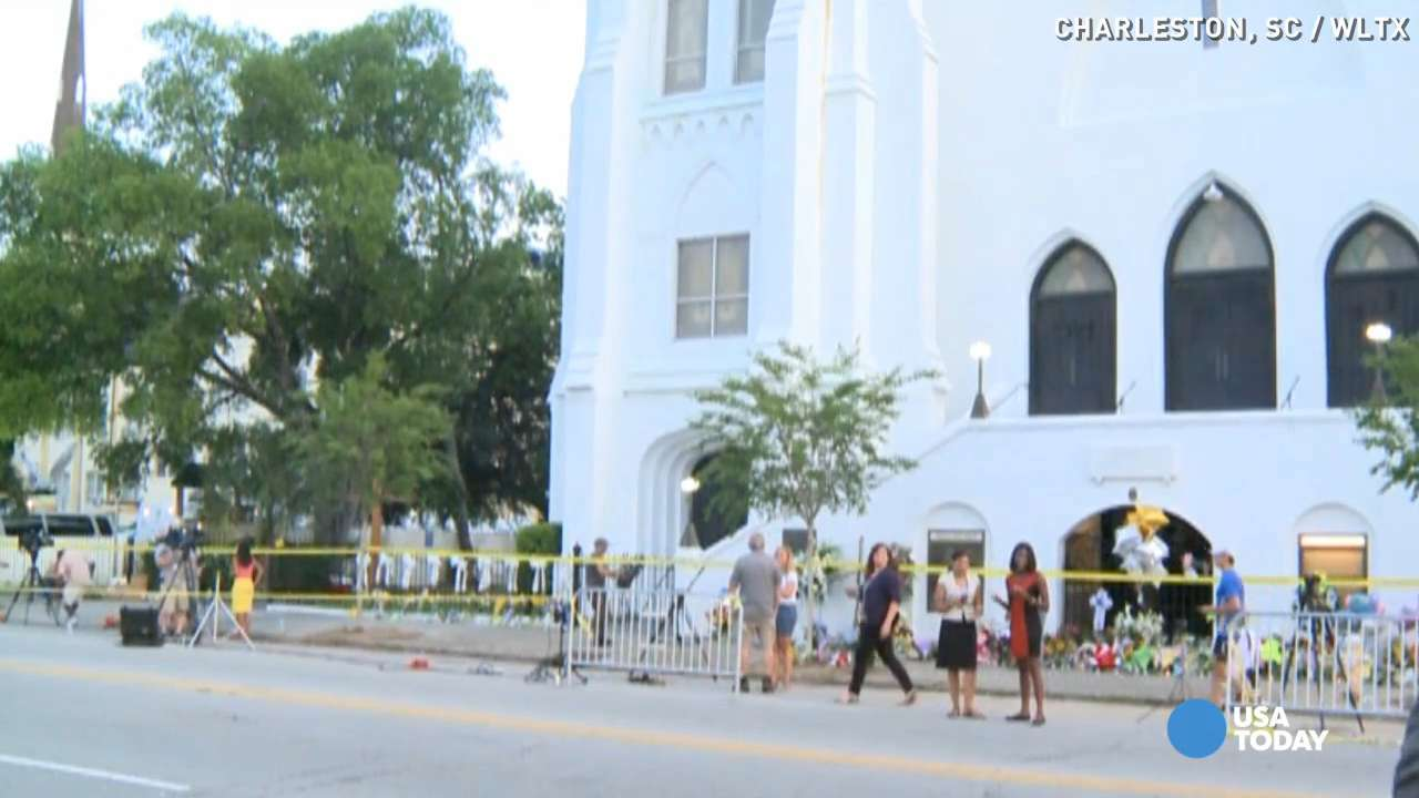 Memorial grows in Charleston one day after shooting