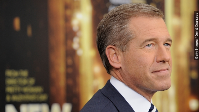 In this Nov. 5, 2014, file photo, Brian Williams speaks at the 8th Annual Stand Up For Heroes, presented by New York Comedy Festival and The Bob Woodruff Foundation in New York. Williams will return to the air on Sept 22, 2015, as part of MSNBC's coverage of Pope Francis' visit to the United States.