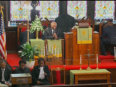 1st Church Service Held After SC Shooting