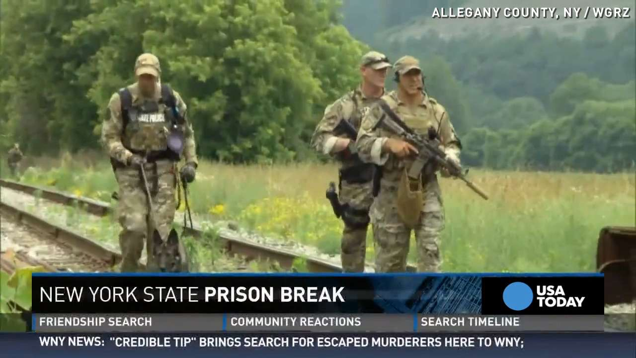 Manhunt for escaped prisoners heats up after possible sighting