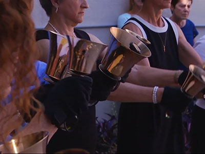 Raw: Bells toll in honor of slain church members