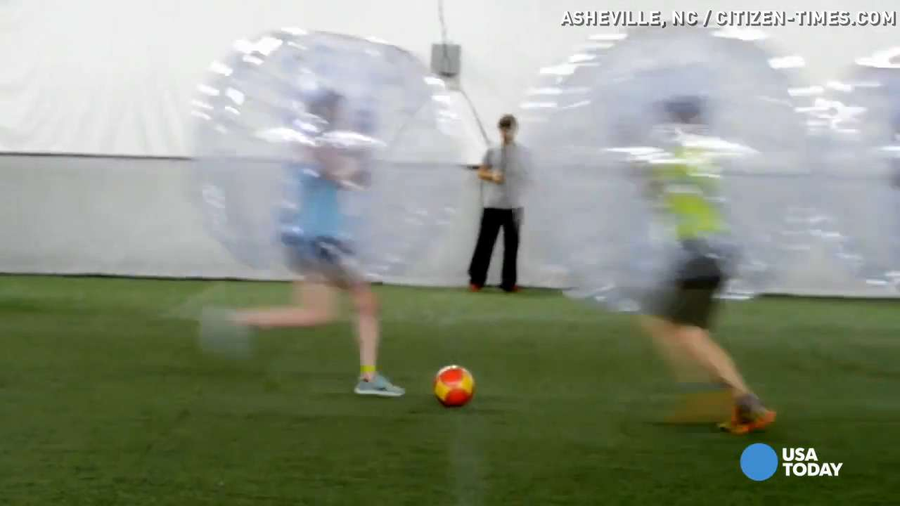 Bubble soccer: A 'ludicrous, amazing, exhausting' sport