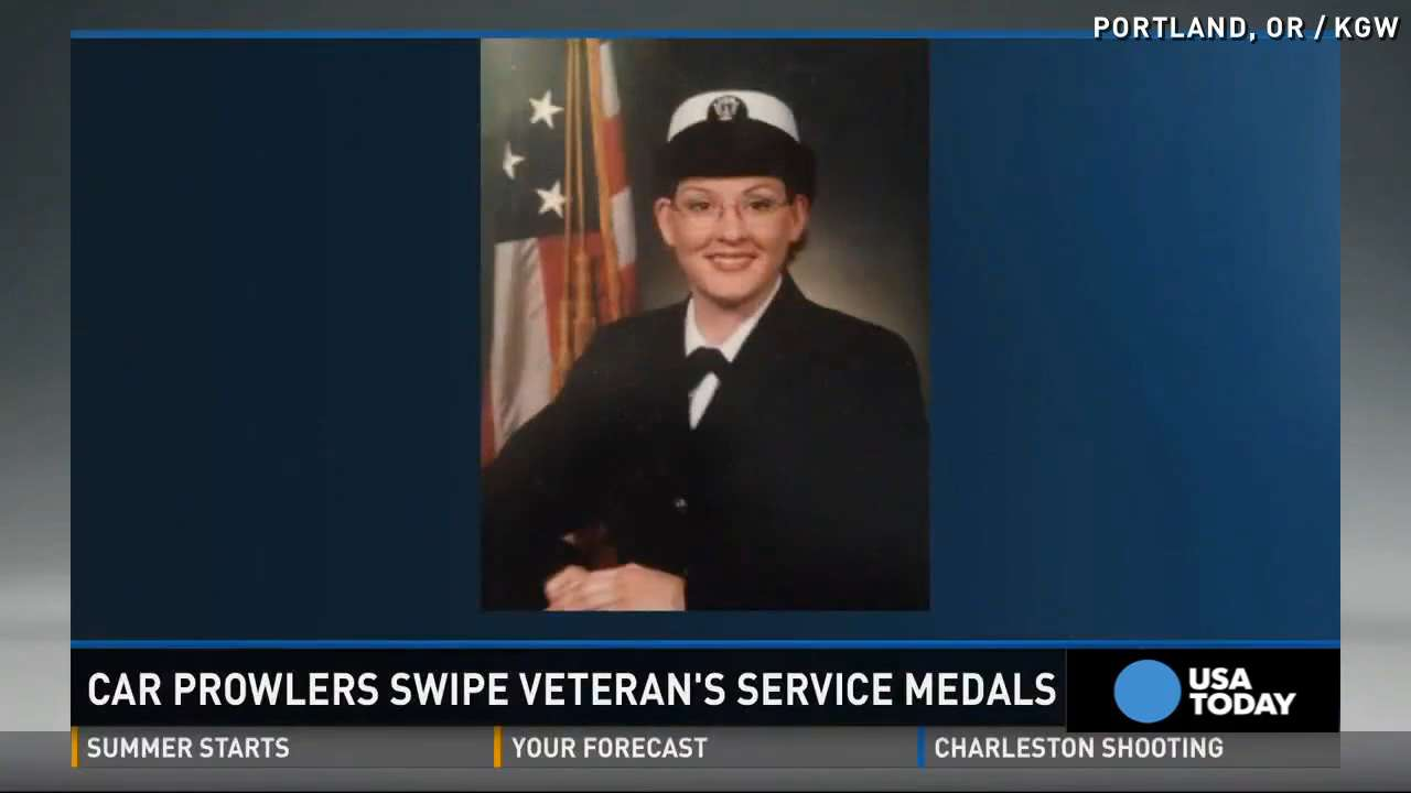 Car thief steals veteran's medals, military identification