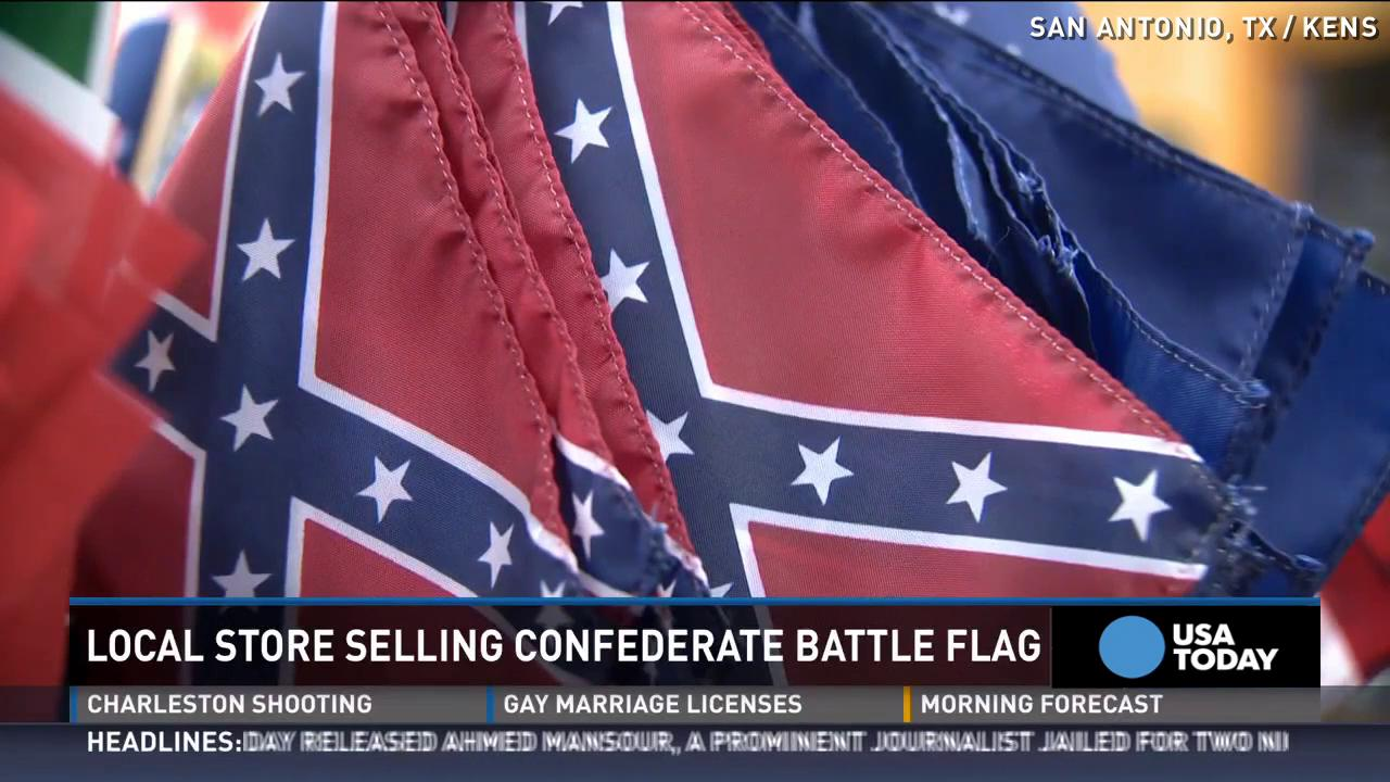 Man buys confederate flag with plans to burn it