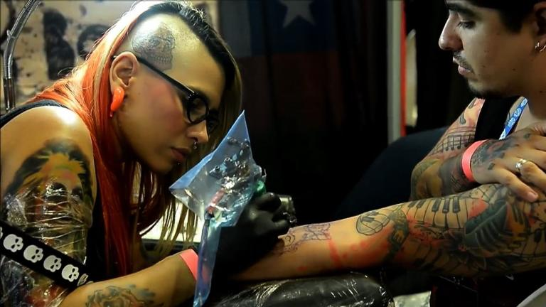 Medellin's sixth annual tattoo convention attracted hundreds of attendees, as well as professional tattoo and body artists that aimed to show how tattoos are gaining more acceptance in Colombia.