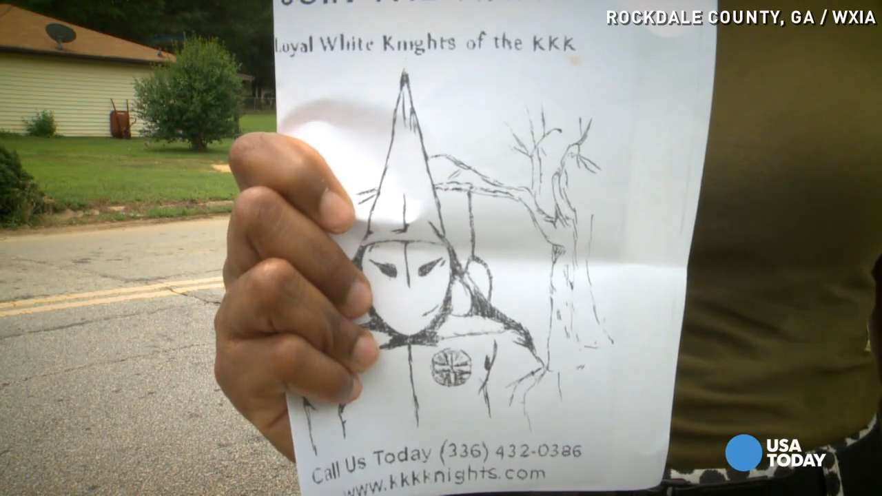 KKK recruitment fliers dropped off in neighborhood