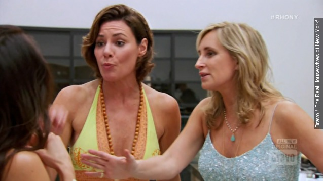 The 'RHONY' girls' vacation kicks off with a big feud