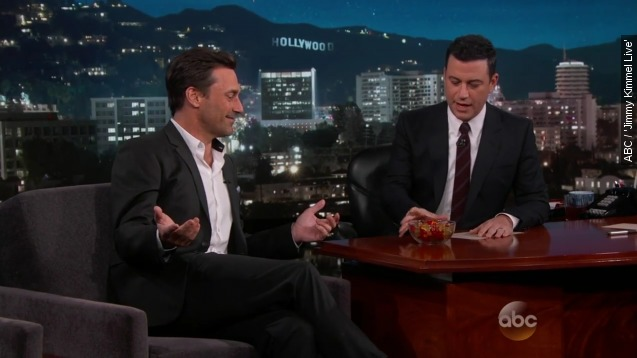 See Jon Hamm and Jimmy Kimmel play with gummy bears