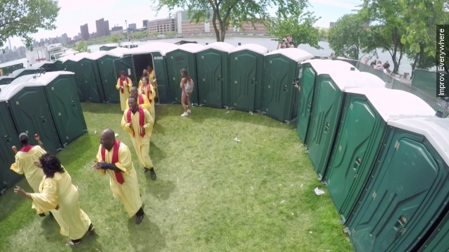 Port-A-Potty prank surprises festivalgoers