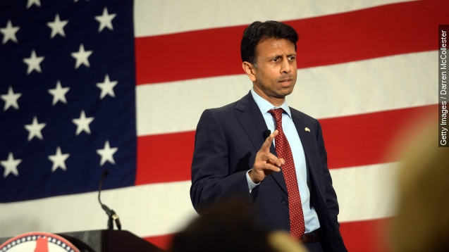 Bobby Jindal announces candidacy, promises daughter a puppy