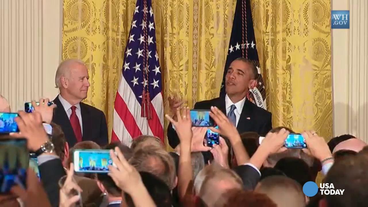 Obama to heckler: 'You're in my house!'