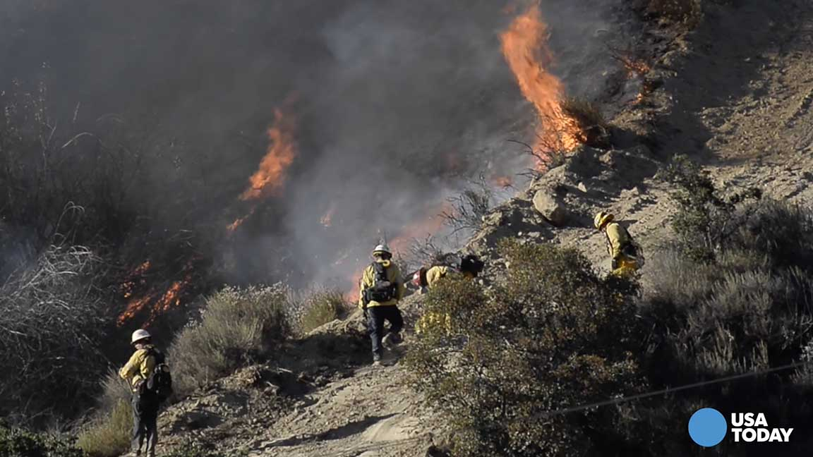 So Cal brush fire forces 1000 to evacuate