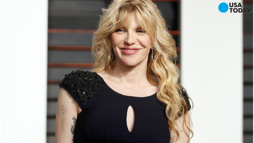 Courtney Love's taxi attacked in Uber protests