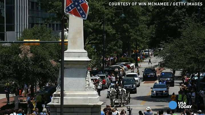 Pinckney's casket had to travel under confederate flag