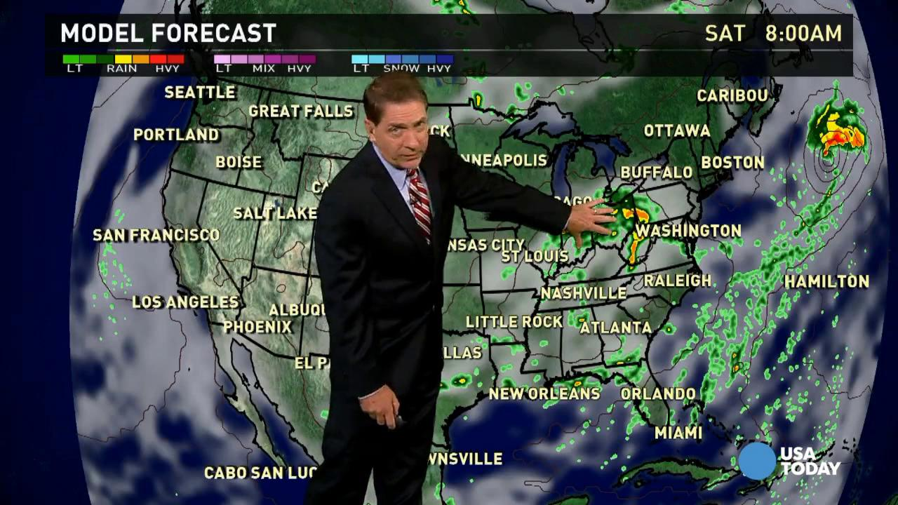 Friday's forecast: Still inclement along Ohio river