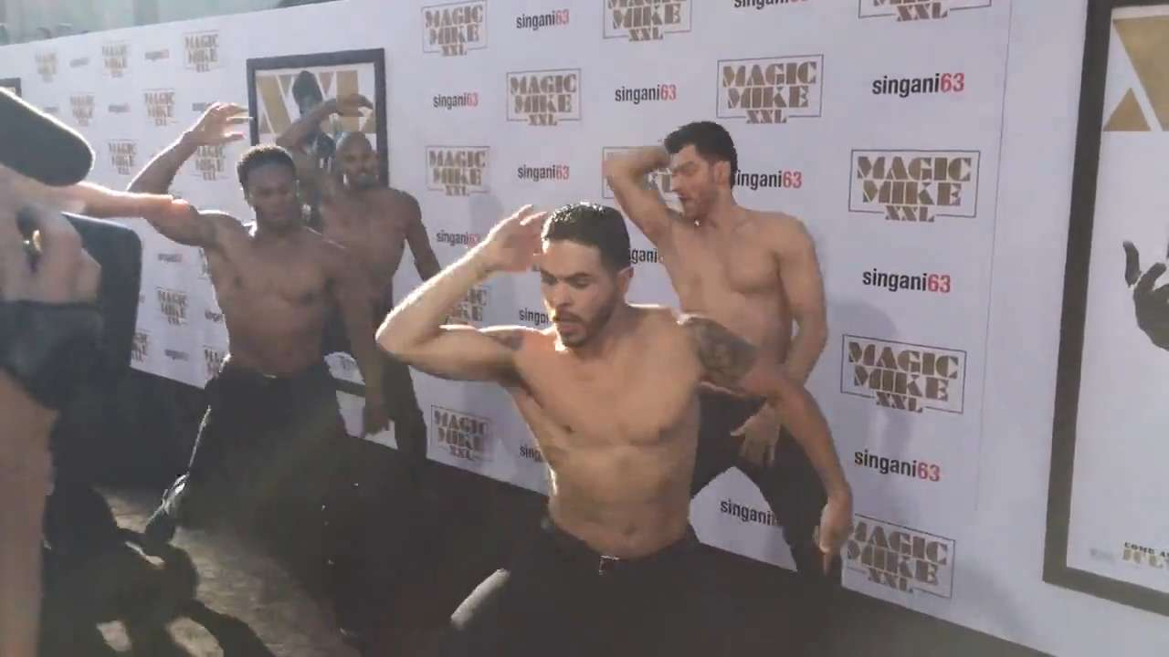 RAW: Dancers perform at 'Magic Mike' premiere