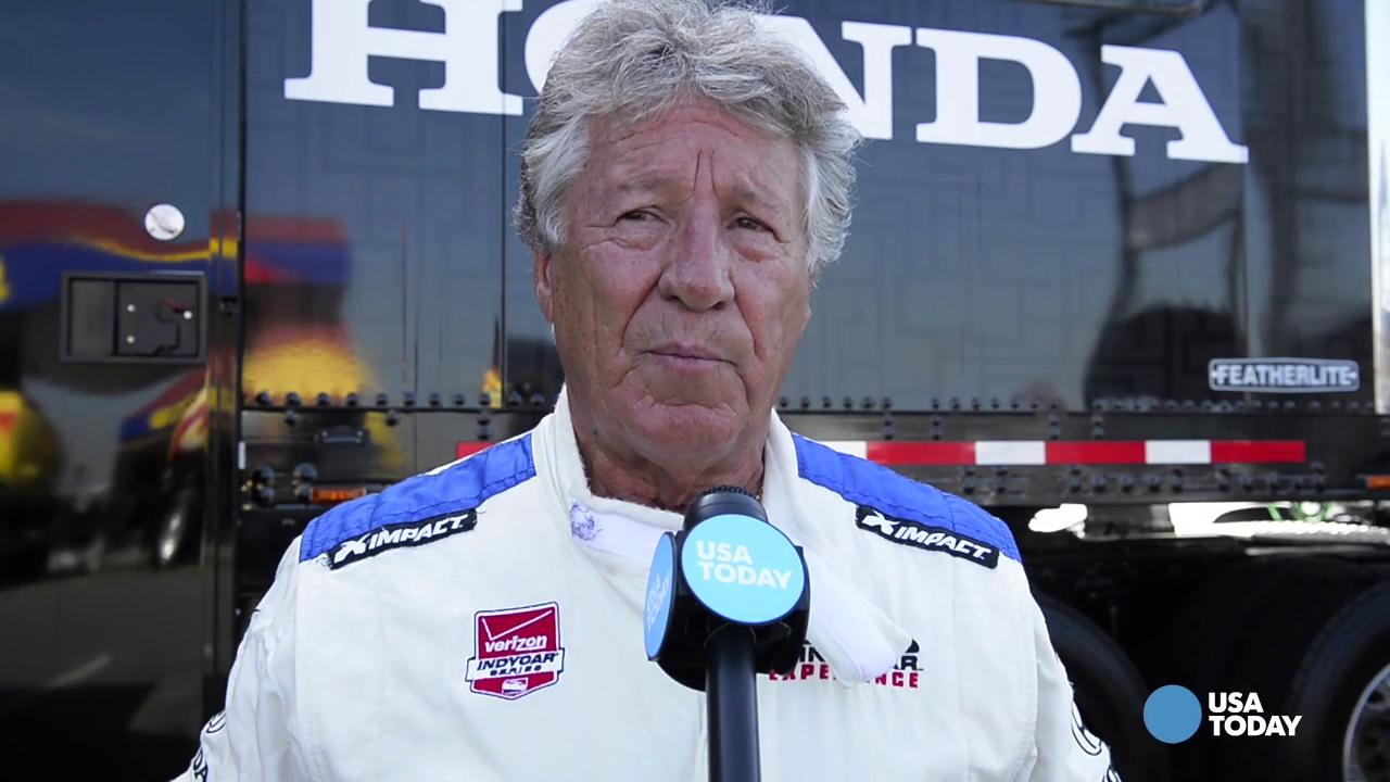 Taking an IndyCar ride with Mario Andretti at 180 mph