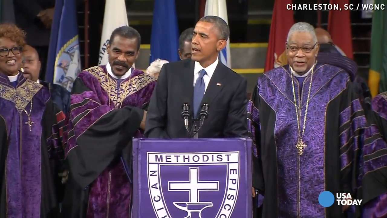 Listen to Obama sing 'Amazing Grace' at Charleston funeral