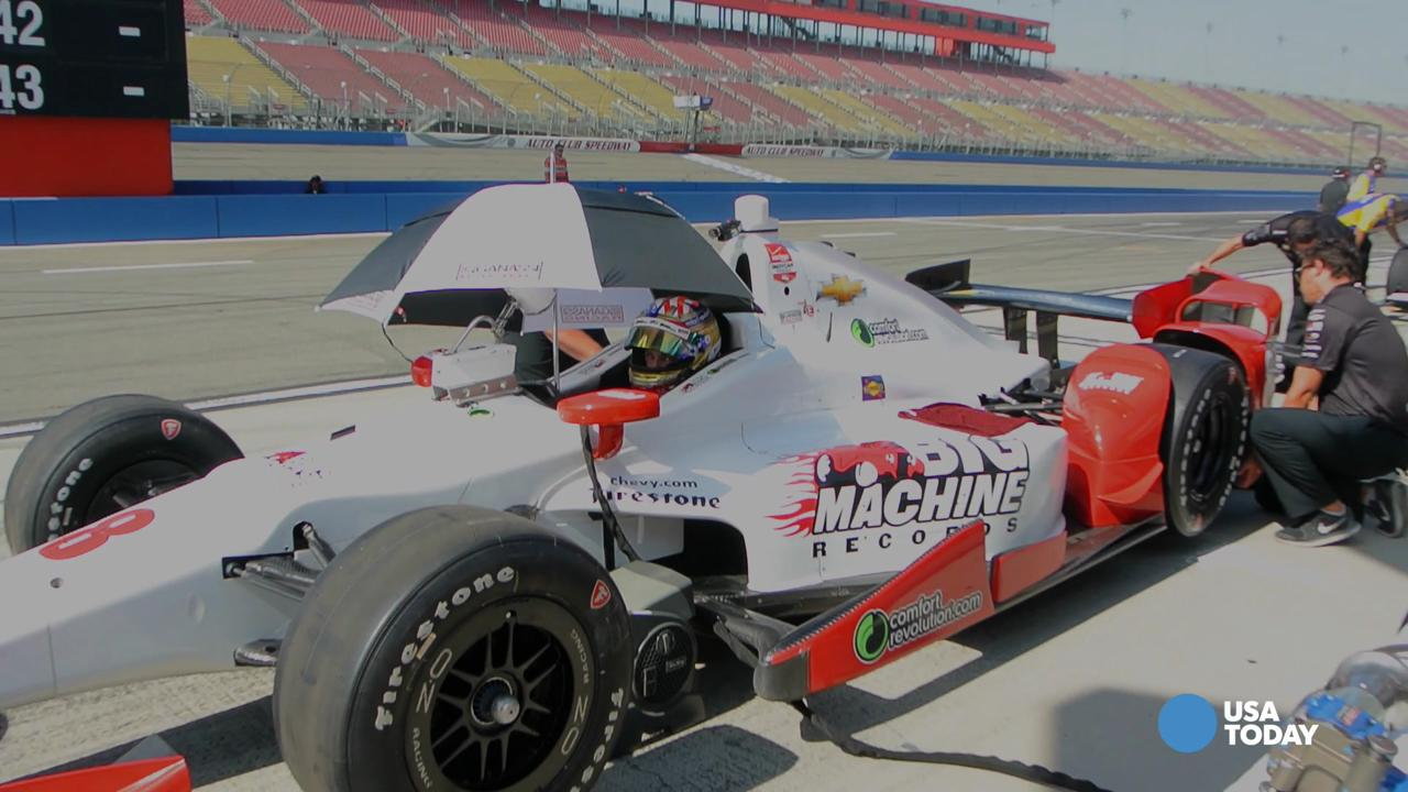 Behind the scenes with 20-year-old IndyCar driver Sage Karam