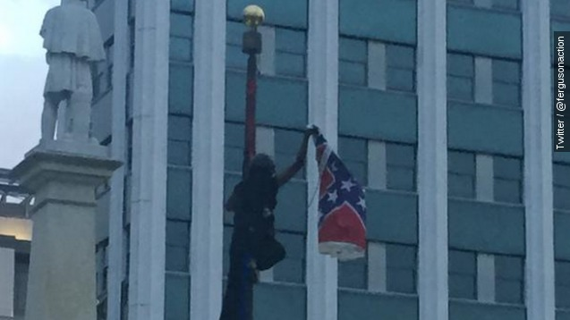 Woman arrested removing Confederate flag from S.C. Capitol