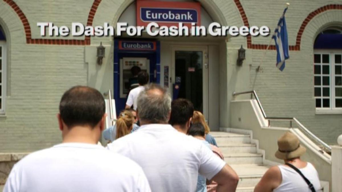 Greeks rush to ATMs as Euros run dry