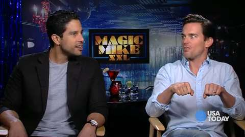 Which 'Magic Mike' star practiced strip routine at Target?