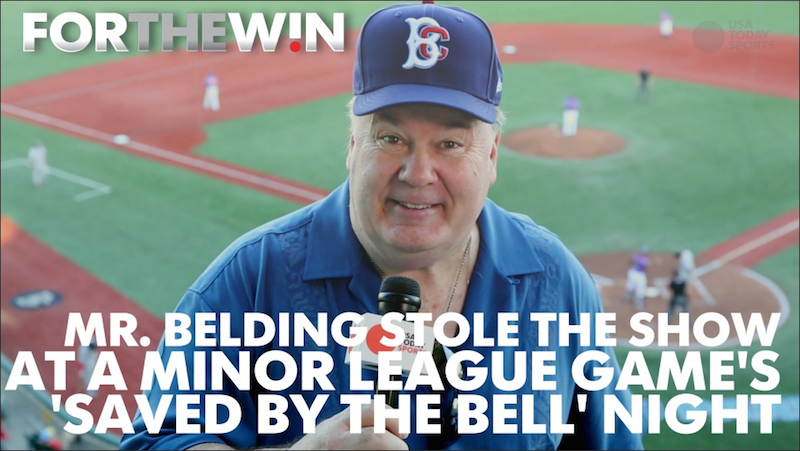 Mr. Belding stole the show at a ballpark's 'Saved by the Bell' night
