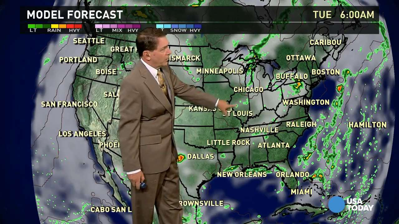 Tuesday's forecast: Stormy from Great Lakes to Northeast