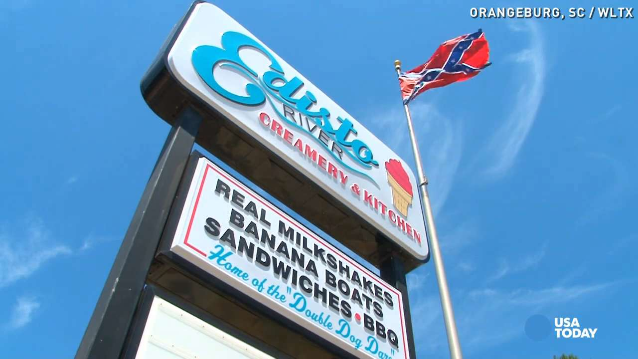 Ice cream shop near Confederate memorial gets threats