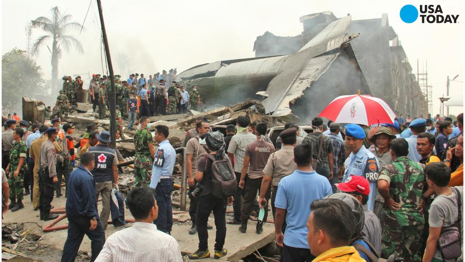 Indonesian military plane crash leaves dozens dead