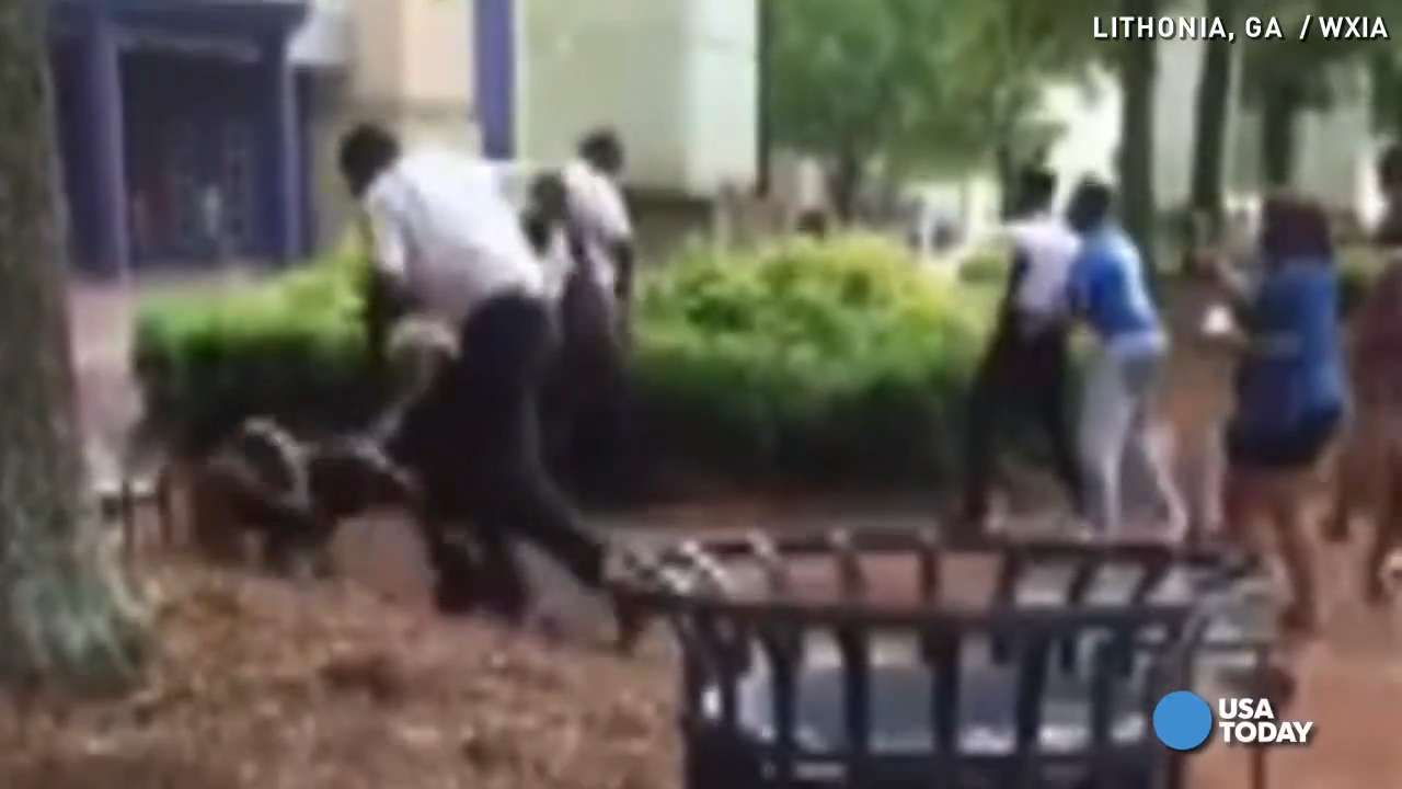 Mall cops caught on camera beating teen